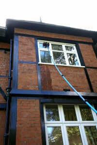 Image of a residential window cleaner in Exeter, Devon