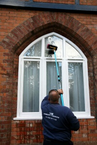 Picture of a window cleaner in Exeter