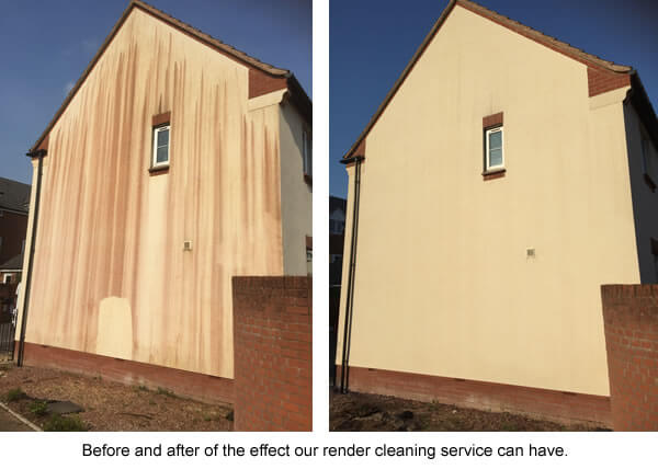 Render cleaning before and after photos